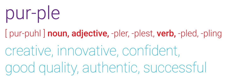 [pur-pulh] noun, adjective,